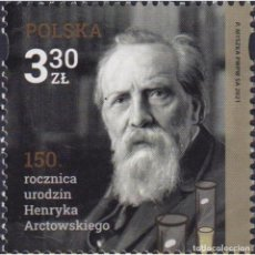 Sellos: ⚡ DISCOUNT POLAND 2021 THE 150TH ANNIVERSARY OF THE BIRTH OF HENRYK ARCTOWSKI MNH - SCIENTIS. Lote 296063933