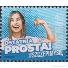 Sellos: ⚡ DISCOUNT POLAND 2021 COMBAT CORONA CAMPAIGN - WE VACCINATE MNH - THE MEDICINE. Lote 296063938