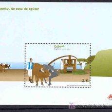 Sellos: PORTUGAL MADEIRA 2007.- HOJA BLOQUE CAÑA DE AZUCAR. Lote 24670225