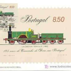 Sellos: PORTUGAL 1981.- TARJETA MAXIMA.- LOCOMOTORA DOM LUIZ. FERROCARRIL. TRENES. Lote 6508550