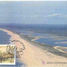 Timbres: PORTUGAL 1985.- TARJETA MAXIMA.- RESERVAS Y PARQUES NATURALES. RIA FORMOSA. Lote 6458663