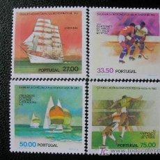 Sellos: PORTUGAL 1982 IVERT 1537/40 *** GRANDES EVENTOS DEPORTIVOS 1982 - BARCOS. Lote 25178679