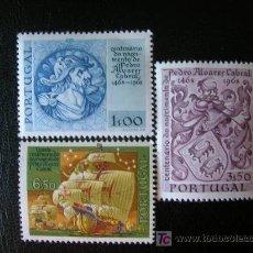 Sellos: PORTUGAL 1969 IVERT 1048/50 *** 5º CENTENARIO NACIMIENTO PEDRO ALVARES CABRAL - DESCUBRIDOR BRASIL. Lote 25178719