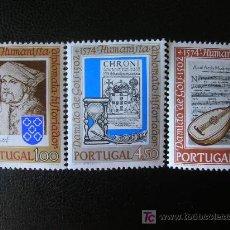 Sellos: PORTUGAL 1974 IVERT 1208/10 *** 400º ANIVERSARIO MUERTE DE HUMANISTA DAMIAO DE GOIS - PERSONAJES. Lote 139516158