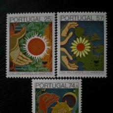 Sellos: PORTUGAL 1987 IVERT 1694/6 *** AÑO EUROPEO DEL ENTORNO. Lote 9071931