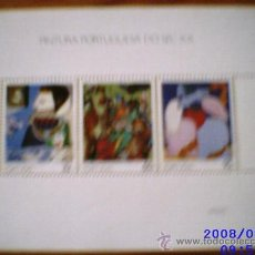 Sellos: PORTUGAL 1990 HB - PINTURA PORTUGUESA DEL SIGLO XX. NUEVA CON ESTUCHE. Lote 9768577