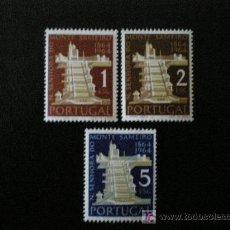 Sellos: PORTUGAL 1964 IVERT 941/3 *** CENTENARIO DEL SANTUARIO DE SAMEIRO EN BRAGA - RELIGIÓN - MONUMENTOS. Lote 10238224