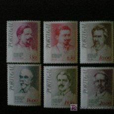 Sellos: PORTUGAL 1979 IVERT 1439/44 *** FIGURAS DEL PENSAMIENTO REPUBLICANO (I) - PERSONAJES. Lote 12018711