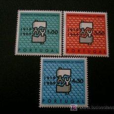 Sellos: PORTUGAL 1969 IVERT 1057/9 *** 50º ANIVERSARIO ORGANIZACIÓN INTERNACIONAL DEL TRABAJO. Lote 10651467