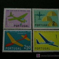 Sellos: PORTUGAL 1960 IVERT 864/7 *** 50 ANIVERSARIO AERO-CLUB DE PORTUGAL - AVIONES. Lote 17249759