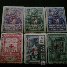 Sellos: PORTUGAL 1931 FRANQUICIA IVERT 49/54 * SOBRECARGA CRUZ ROJA 1931. Lote 10665490
