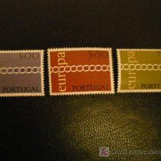 Sellos: PORTUGAL 1971 IVERT 1107/9 *** EUROPA. Lote 26591972