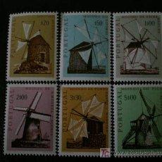 Sellos: PORTUGAL 1971 IVERT 1101/6 *** LOS MOLINOS PORTUGUESES. Lote 53971311