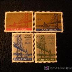Sellos: PORTUGAL 1966 IVERT 989/92 *** INAUGURACIÓN DEL PUENTE SALAZAR SOBRE EL TAJO - MONUMENTOS. Lote 18787272