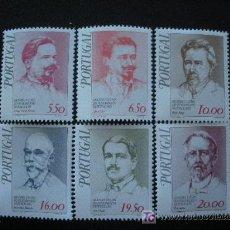 Sellos: PORTUGAL 1979 IVERT 1439/44 *** FIGURAS DEL PENSAMIENTO REPUBLICANO (I) - PERSONAJES. Lote 12570651