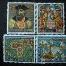 Sellos: PORTUGAL 1969 IVERT 1069/72 *** 5º CENTENARIO NACIMIENTO DESCRUBIDOR VASCO DE GAMA - PERSONAJES. Lote 20269274