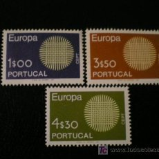 Sellos: PORTUGAL 1970 IVERT 1073/5 *** EUROPA. Lote 26591968