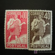 Sellos: PORTUGAL 1937 IVERT 586/7 * 4 CENTENARIO MUERTE POETA GIL VICENTE. Lote 19426723