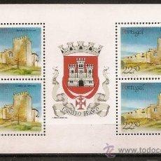 Sellos: PORTUGAL,BLOQUE PROCEDENTE DE CARNET,CASTILLO DE BELMONTE.. Lote 15297665