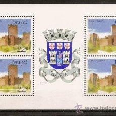 Sellos: PORTUGAL,BLOQUE PROCEDENTE DE CARNET,CASTILLO DE GUIMARAES.. Lote 15297827