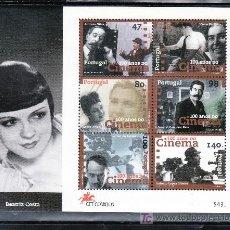 Sellos: PORTUGAL HB 123 SIN CHARNELA, CENTENARIO DEL CINE, HOMENAJE A BEATRIZ COSTA. Lote 24624031