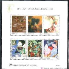 Sellos: PORTUGAL HB 75 SIN CHARNELA, PINTURA PORTUGUESA DEL SIGLO XX. Lote 16679177