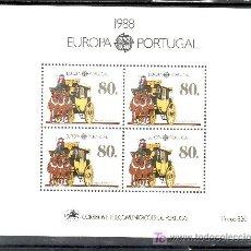 Sellos: PORTUGAL HB 58 SIN CHARNELA, TEMA EUROPA, TRANSPORTES Y COMUNICACIONES. Lote 16679341