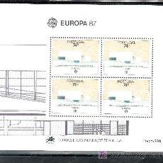Sellos: PORTUGAL HB 55 SIN CHARNELA, TEMA EUROPA, ARQUITECTURA MODERNA. Lote 16679373