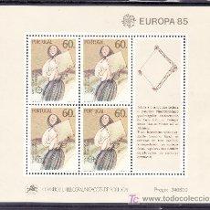 Sellos: PORTUGAL HB 48 SIN CHARNELA, TEMA EUROPA, AÑO EUROPEO DE LA MUSICA. Lote 16679385