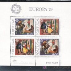Sellos: PORTUGAL HB 27 SIN CHARNELA, TEMA EUROPA, HISTORIA DEL CORREO. Lote 16679801