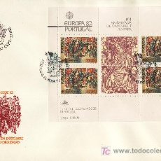 Sellos: PORTUGAL HB 36 PRIMER DIA, TEMA EUROPA, HECHOS HISTORICOS. Lote 16690199
