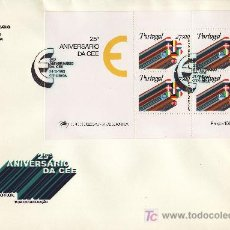 Sellos: PORTUGAL HB 35 PRIMER DIA, 25º ANIVERSARIO DE LA COMUNIDAD ECONOMICA EUROPEA. Lote 22252636