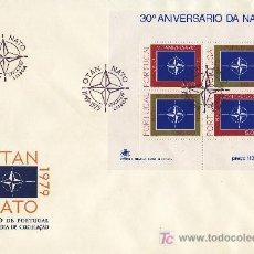 Sellos: PORTUGAL HB 26 PRIMER DIA, 30º ANIVERSARIO DE LA O.T.A.N.. Lote 27157880