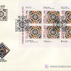 Sellos: PORTUGAL 1536A MINIPLIEGO PRIMER DIA, 5 SIGLOS DEL AZULEJO,. Lote 37895528