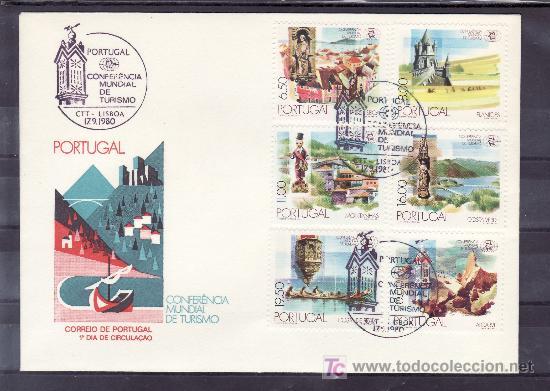 PORTUGAL 1476/81 PRIMER DIA, CONFERENCIA MUNDIAL DE TURISMO EN MANILA (Sellos - Extranjero - Europa - Portugal)