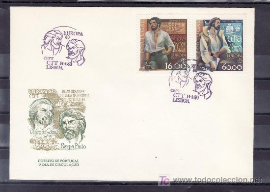 PORTUGAL 1466/7 PRIMER DIA, TEMA EUROPA, PERSONAJES CELEBRES, (Sellos - Extranjero - Europa - Portugal)