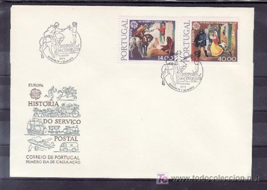 PORTUGAL 1421/2 PRIMER DIA, TEMA EUROPA, HISTORIA DEL CORREO (Sellos - Extranjero - Europa - Portugal)