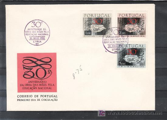 PORTUGAL 1035/7 PRIMER DIA, 30º ANIVERSARIO DE LA LABOR DE LAS MADRES PARA LA EDUCACIÓN NACIONAL (Sellos - Extranjero - Europa - Portugal)