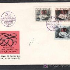 Sellos: PORTUGAL 1035/7 PRIMER DIA, 30º ANIVERSARIO DE LA LABOR DE LAS MADRES PARA LA EDUCACIÓN NACIONAL. Lote 16746133