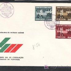 Sellos: PORTUGAL 984/6 PRIMER DIA, 40º ANIVERSARIO DE LA REVOLUCION NACIONAL. Lote 16747013