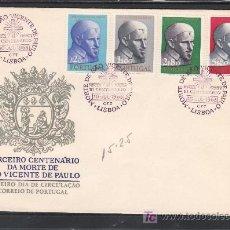 Sellos: PORTUGAL 922/5 PRIMER DIA, RELIGION, TRICENTENARIO DE LA MUERTE DE SAN VICENTE DE PAUL. Lote 23860299