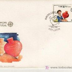 Sellos: PORTUGAL 1763 PRIMER DIA, TEMA EUROPA, JUEGOS INFANTILES,. Lote 25419777