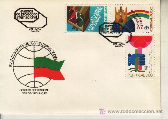 PORTUGAL 1605/7 PRIMER DIA, EVENTOS DE PROYECCION INTERNACIONAL, 15º CONGRESO REHABILITACION (Sellos - Extranjero - Europa - Portugal)
