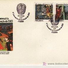 Sellos: PORTUGAL 1588/9 PRIMER DIA, VI CENTENARIO DE LA REVOLUCION,. Lote 16795494