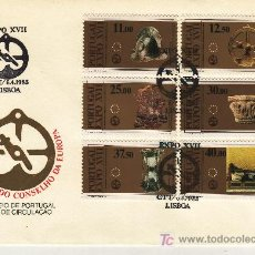 Sellos: PORTUGAL 1574/9 PRIMER DIA, EXPO XVII EXPOSICION EUROPEA DE ARTE, CIENCIA Y CULTURA. Lote 16795666
