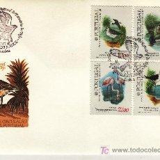 Sellos: PORTUGAL 1548/51 PRIMER DIA, FAUNA, PAJAROS DE LA RESERVA NATURALES DEL ESTUARIO DEL TAJO . Lote 18473657