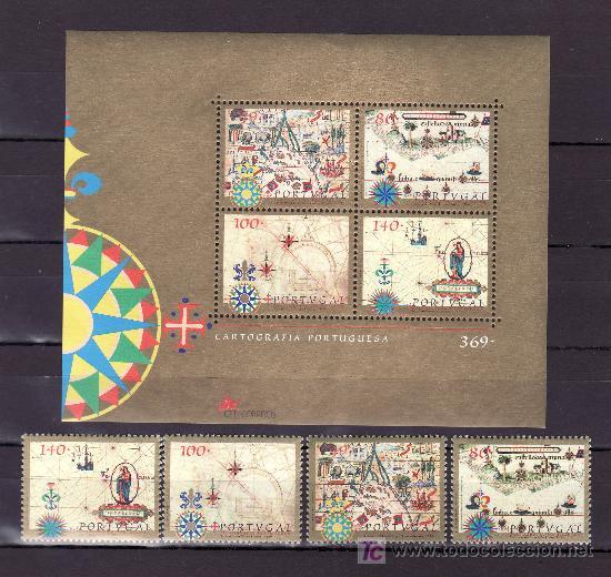 PORTUGAL 2192/5, HB 134 SIN CHARNELA, CARTOGRAFIA DE PORTUGAL (Sellos - Extranjero - Europa - Portugal)