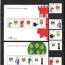 Sellos: PORTUGAL 2185/90, HB 132/3 SIN CHARNELA, ESCUDOS DE DISTRITOS DE PORTUGAL. Lote 16813803