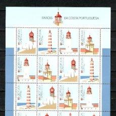 Sellos: PORTUGAL 1700/3 MINIPLIEGO SIN CHARNELA, FAROS DE LA COSTA DE PORTUGAL. Lote 16830644