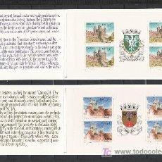 Sellos: PORTUGAL 1657 CARNET, 1658 CARNET SIN CHARNELA, CASTILLOS DE FEIRA Y DE BEJA. Lote 21968535